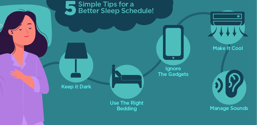 5 Simple Tips for a Better Sleep Schedule!