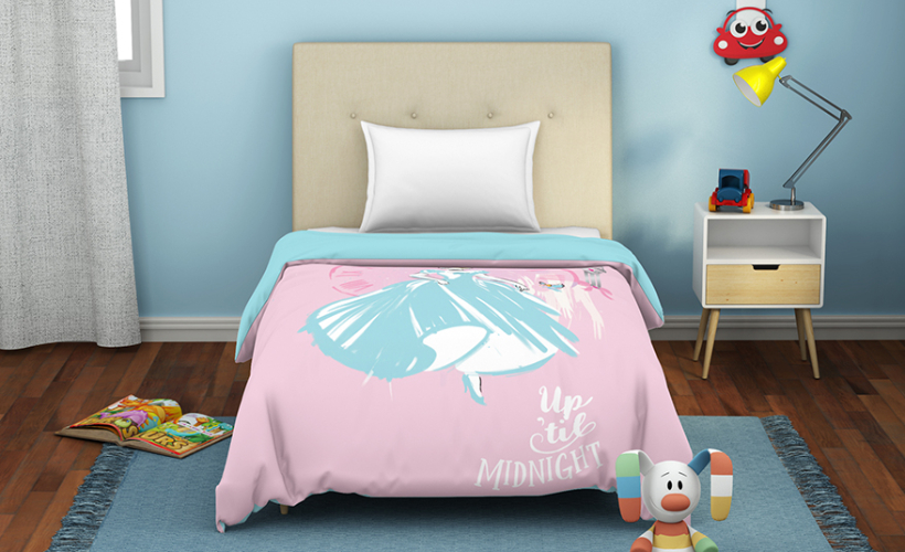 Disney Single Dohar With Pillow Covers – Pink @ ₹ 1999