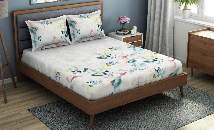 Solesto Hygro Temprature Regulating Abstract Large Bedsheets - Ivory @ ₹ 3699