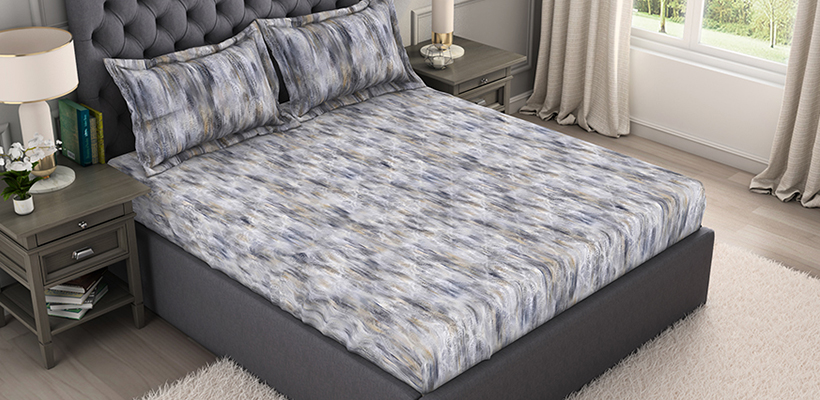 Bamboo Charcoal Cotton Antimicrobial Double Quilt – Grey @ ₹ 2999