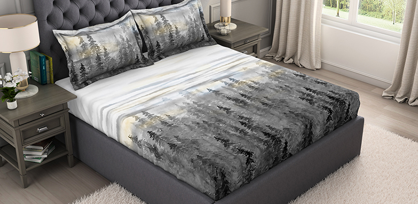 Bamboo Charcoal Cotton Antimicrobial Large Bedsheet - Slate Grey @ ₹ 2999